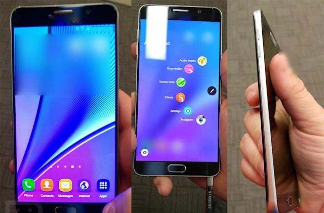 Galaxy Note 5 photo leak shows a giant, pen-toting S6