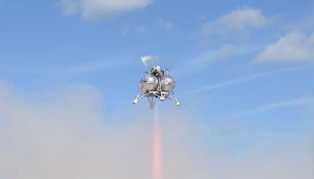 NASA's Morpheus lander skips the inferno, actually lands (video)
