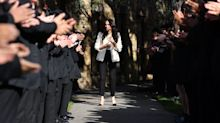 Meghan Markle shares behind-the-scenes video of pupils giving her a standing ovation during school visit