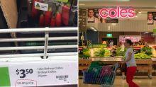 'Tax on plastic': Coles shopper's chilli photos highlight problematic supermarket demand
