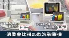 消委會比拼25款洗碗碟機:日本樂聲牌最低分!內地美的牌總分仲高?