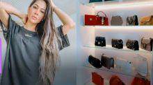 Mayra Cardi mostra closet com bolsa de mais de R$ 12 mil e coleção de lingeries