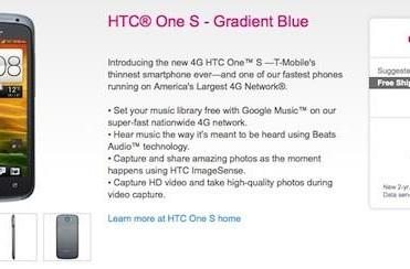 HTC One S shows up on T-Mobile's site, reveals its $599 price (update: $200 on-contract at Best Buy)
