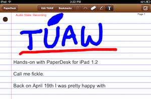 Hands-on with PaperDesk for iPad 1.2