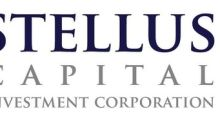 Stellus Capital Investment Corporation Reports Results for Its First Fiscal Quarter Ended March 31, 2019