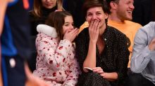 Katie Holmes and Suri Share an Adorable Laugh Together at the Knicks Game: Pics!