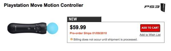 PlayStation Move controller priced at $60 in Canada
