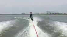 This video of a fish taking out a water-skier where it hurts him the most is going viral