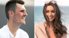Bernard Tomic's girlfriend shuts down question about his 'millions'