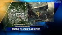 Fire destroys home in mobile home park