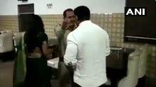 Meerut: BJP Councillor Manish Kumar Slaps UP Sub-Inspector Following Altercation at His Restaurant; Watch Video