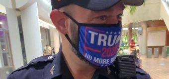 'Unacceptable': Officer faces discipline over Trump mask