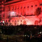 Belgrade protest over virus management turns violent