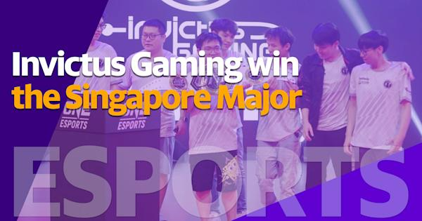 Invictus Gaming win the ONE Esports Singapore Major thumbnail