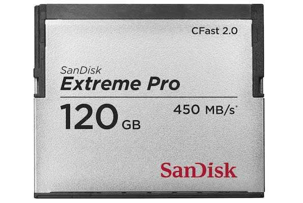 SanDisk's CFast 2.0 card is the world's fastest memory card of any kind