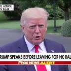 President Trump says he's winning the political fight with the progressive 'Squad'