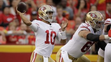 Jimmy G rallies after rough first game back
