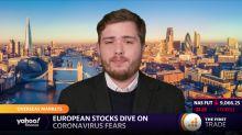 European stocks dive on coronavirus fears