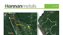 Hannan Increases Granted Mining Concessions by 50% in Peru