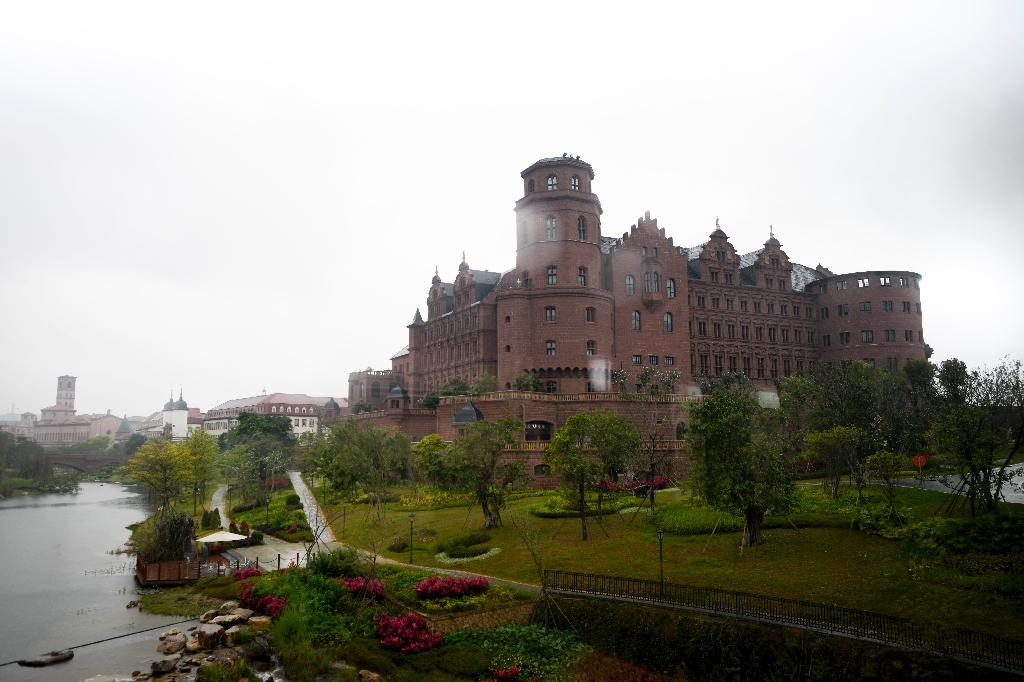 A European-style castle replica is part of Huawei's campus in Dongguan, Guangdong province (AFP Photo/WANG ZHAO)