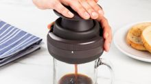 Make hot brew anywhere with this sustainable single-serve coffee press