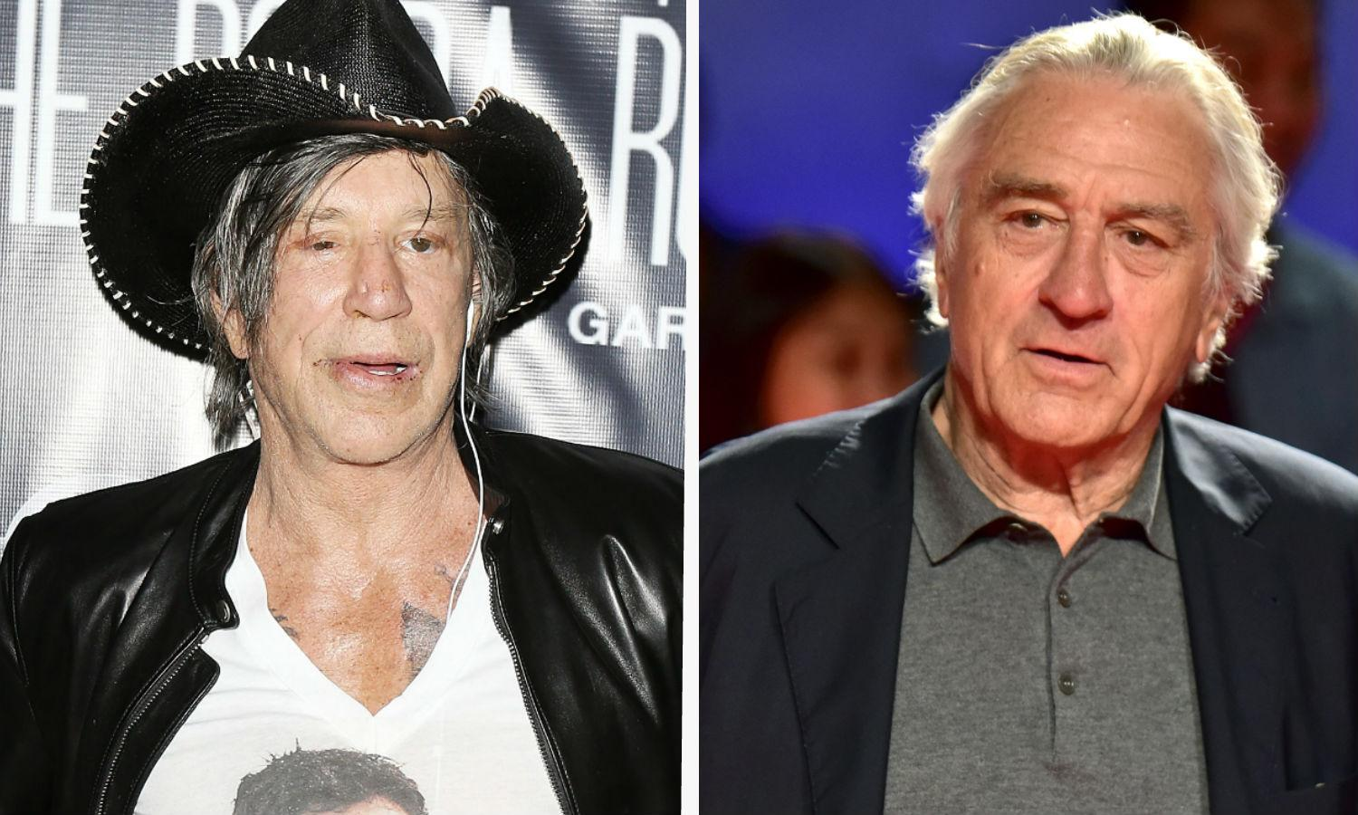 Mickey Rourke claims Robert De Niro feud stopped him landing a role in 'The Irishman' - Yahoo Movies UK