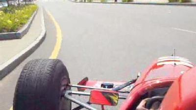 Indy Car Drives Through Manchester