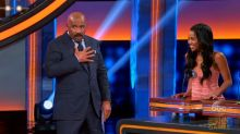 Steve Harvey baffled by 'Bachelor' contestant's answer on 'Celebrity Family Feud'