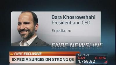 Expedia surges on strong Q3