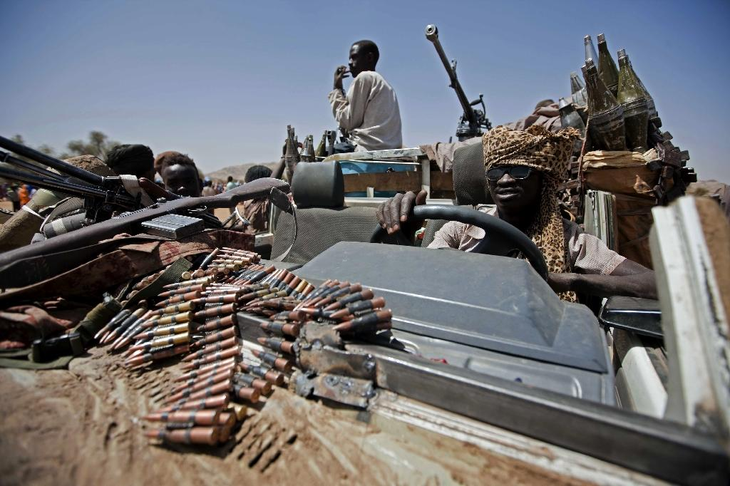 A picture released by the United Nations and African Union Mission in Darfur (UNAMID) shows a member of the coalition of rebel forces who control the village of Fanga Suk, in East Jebel Marra (West Darfur) on March 18, 2011