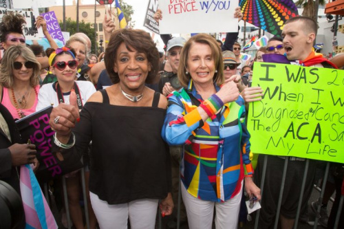 Maxine Waters and Nancy Pelosi