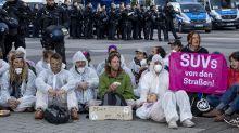 Activists block main entrance to Frankfurt motor show