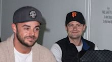 Ant McPartlin is all smiles as he and Dec Donnelly arrive in Australia for I'm A Celeb