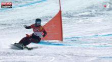 JO d'hiver 2018 : Un écureuil débarque sur le slalom géant parallèle et évite le pire ! (Vidéo)