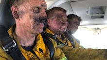 'Heroes don't wear capes': Powerful photo of worn-out firefighters goes viral