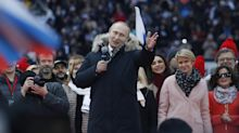 Putin reelection campaign rally in Moscow