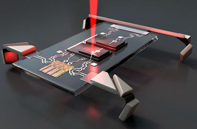 Cornell University's laser-activated robot is smaller than a paramecium