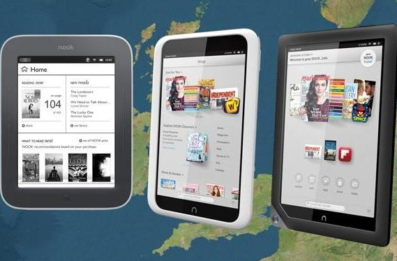 Barnes & Noble hits the UK, launches Nook Simple Touch, Glowlight and a pair of HD tablets