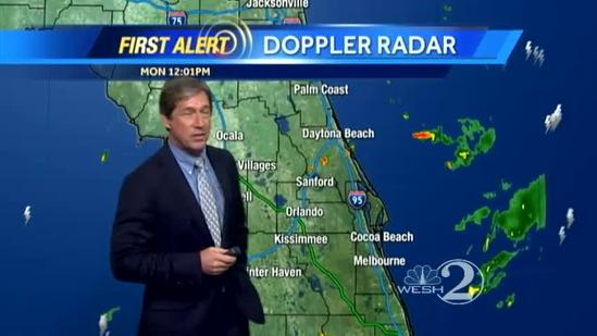 Scattered showers, storms today