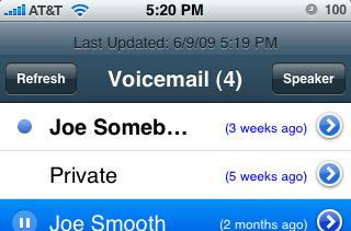 VoiceCentral integrates Google Voice with the iPhone