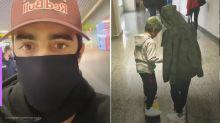 Pedro Scooby mostra filhos andando de skate no aeroporto