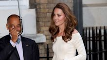 Kate Middleton Wore a Gorgeous Off-the-Shoulder Dress With Sparkly Heels at the Action on Addiction Gala Dinner