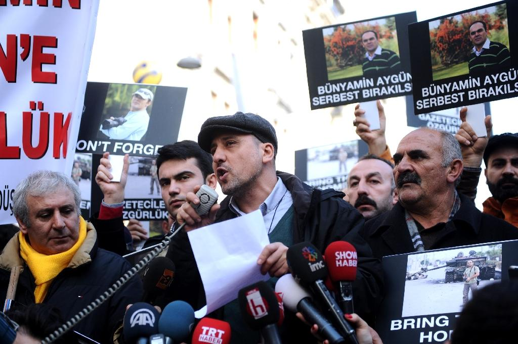 """Journalist Ahmet Sik, pictured in 2014, was detained over tweets about the outlawed Kurdistan Workers' Party (PKK), proscribed as a """"terror organisation"""" by Turkey"""
