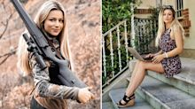 'So beautiful and so cruel': Model signed as 'face of hunting' gets death threats