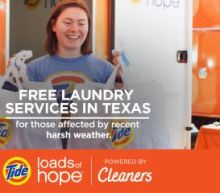 Tide Loads of Hope Powered by Tide Cleaners Helps Lighten the Load for Texas Families Faced with Crisis