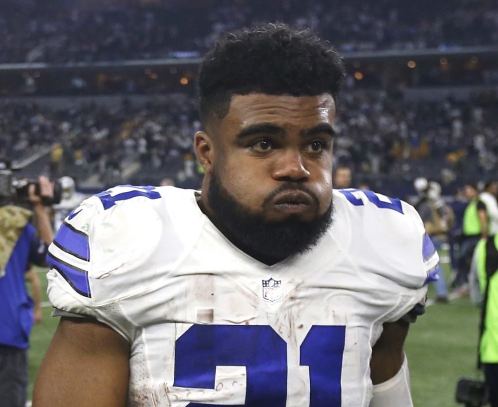 Cowboys running back Ezekiel Elliott was suspended six games by the NFL. (AP)