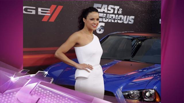 Entertainment News Pop: Michelle Rodriguez Gets HIGH With Fans At Fast & Furious 6 Premiere!!