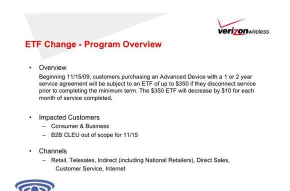 Verizon looking to bump early termination fee to $350 on 'advanced' devices