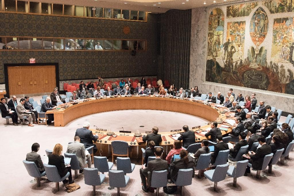 UN Security Council agreed to a request from China to lift sanctions imposed on four ships blacklisted for ties to Pyongyang's nuclear and weapons programs (AFP Photo/Mark Garten)