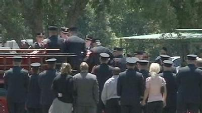 Funeral Held For Slain Firefighter